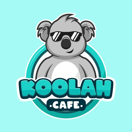 Koala Cartoon Logo