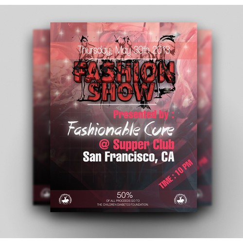 postcard or flyer for Fashionable Cure