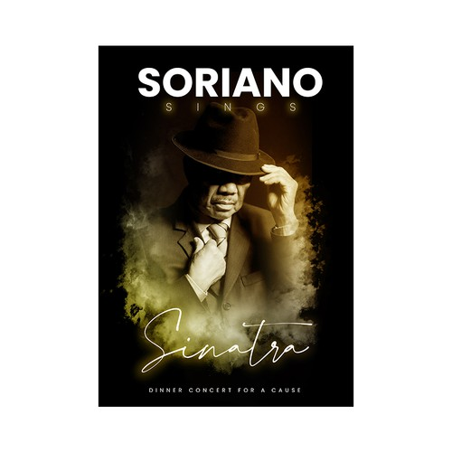 "Poster Concert "" Soriano Sings Sinatra """