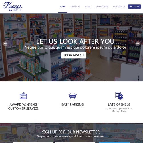Simple Modern Website required for a Pharmacy group