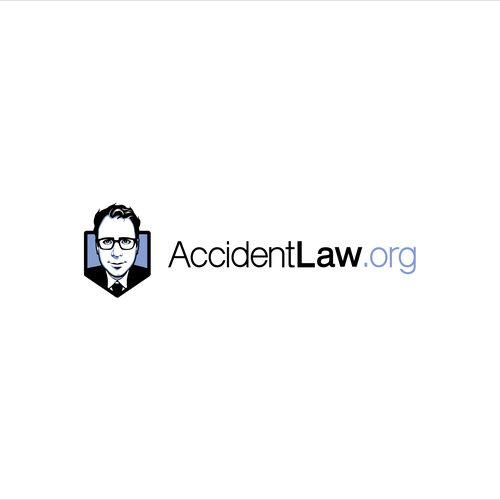 A cartoon-ish lawyer logo for website