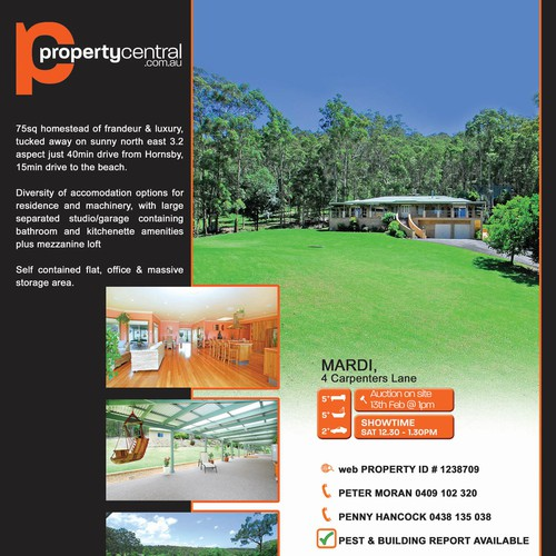 Real Estate Page Layout