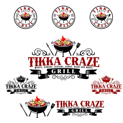 Logo for Tikka Craze Grill