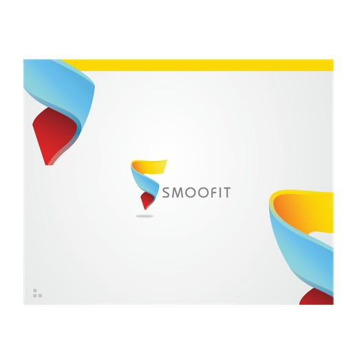 abstract lettrering logo for smoofit bussines mapping app
