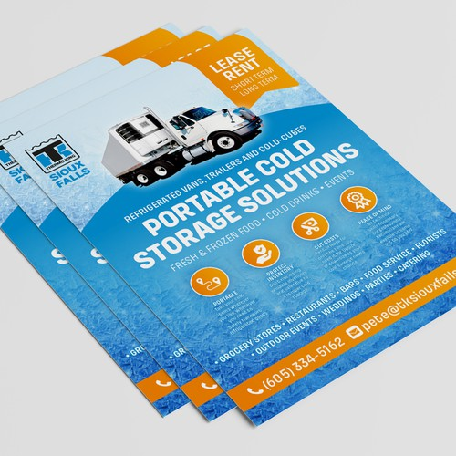 Crisp, double sided flyer and pricelist