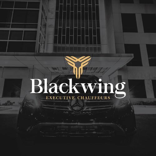 Luxurious chauffeur service logo design