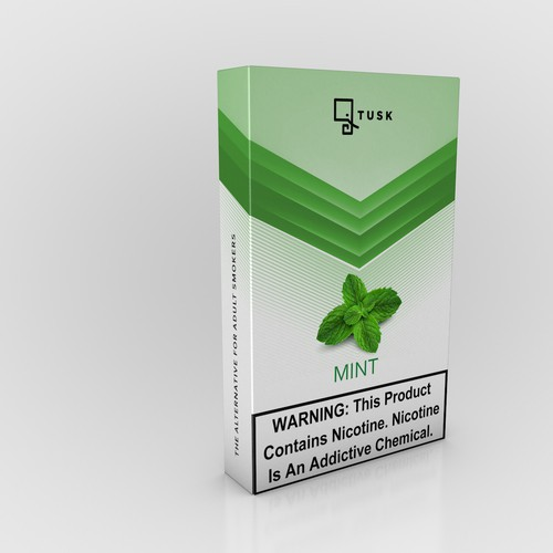 Product design for vaporizer battery and flavored nicotine pods