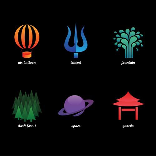 Meditation icons