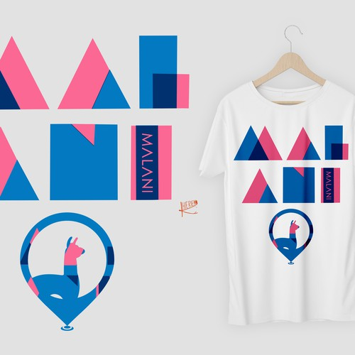 Riso print inspired tee for Malani