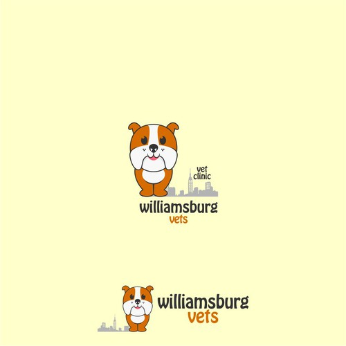 Playful Dog Logo For Williamsburg Vets