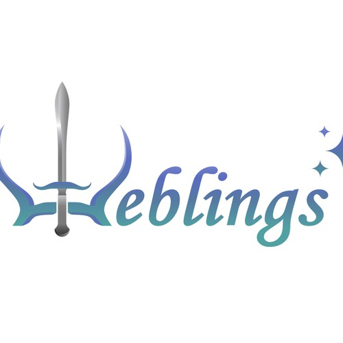 A fun logo for Weblings, a fun and unique online game!