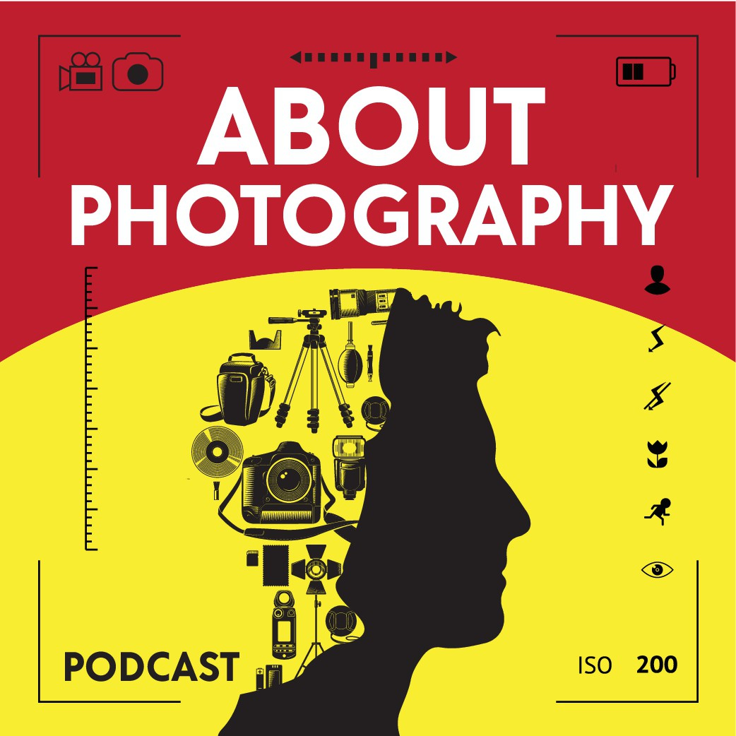 Design cover art for podcast about photography