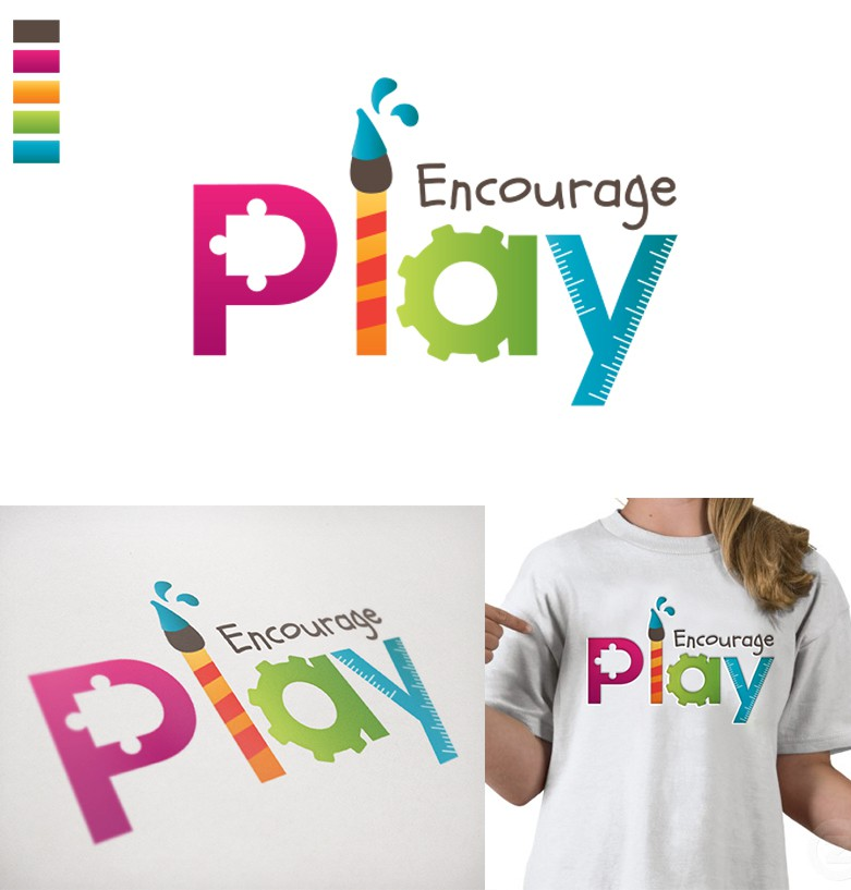 Create a logo to represent children playing at home