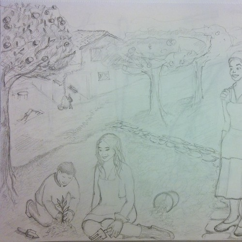 Idila - pencil drawing