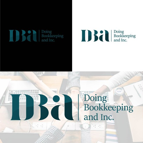 Negative Space Logo for Doing Bookkeeping and inc.