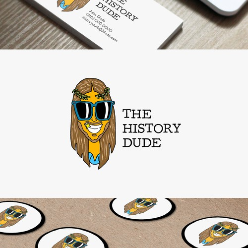 Playful logo for fun historian
