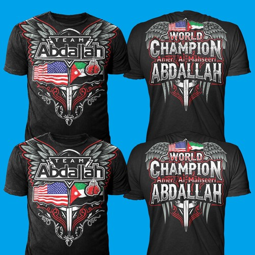 "Tshirt Design for ""Abdalah team- MMA FIGHTER"""