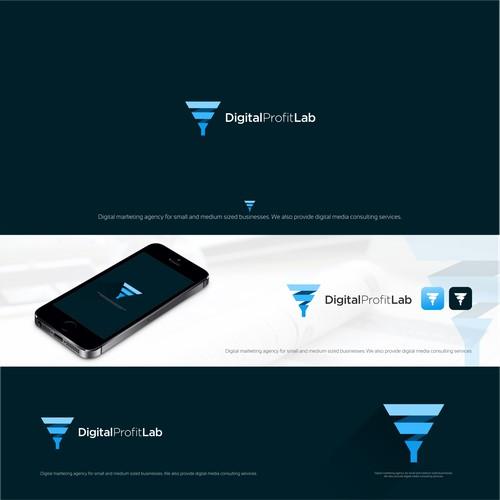 cool logo design for DIGITAL PROFIT LAB digital marketing agency