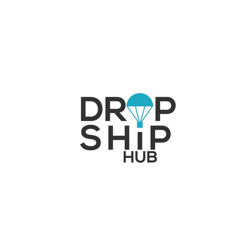 bold logo concept for DROPSHIPHUB