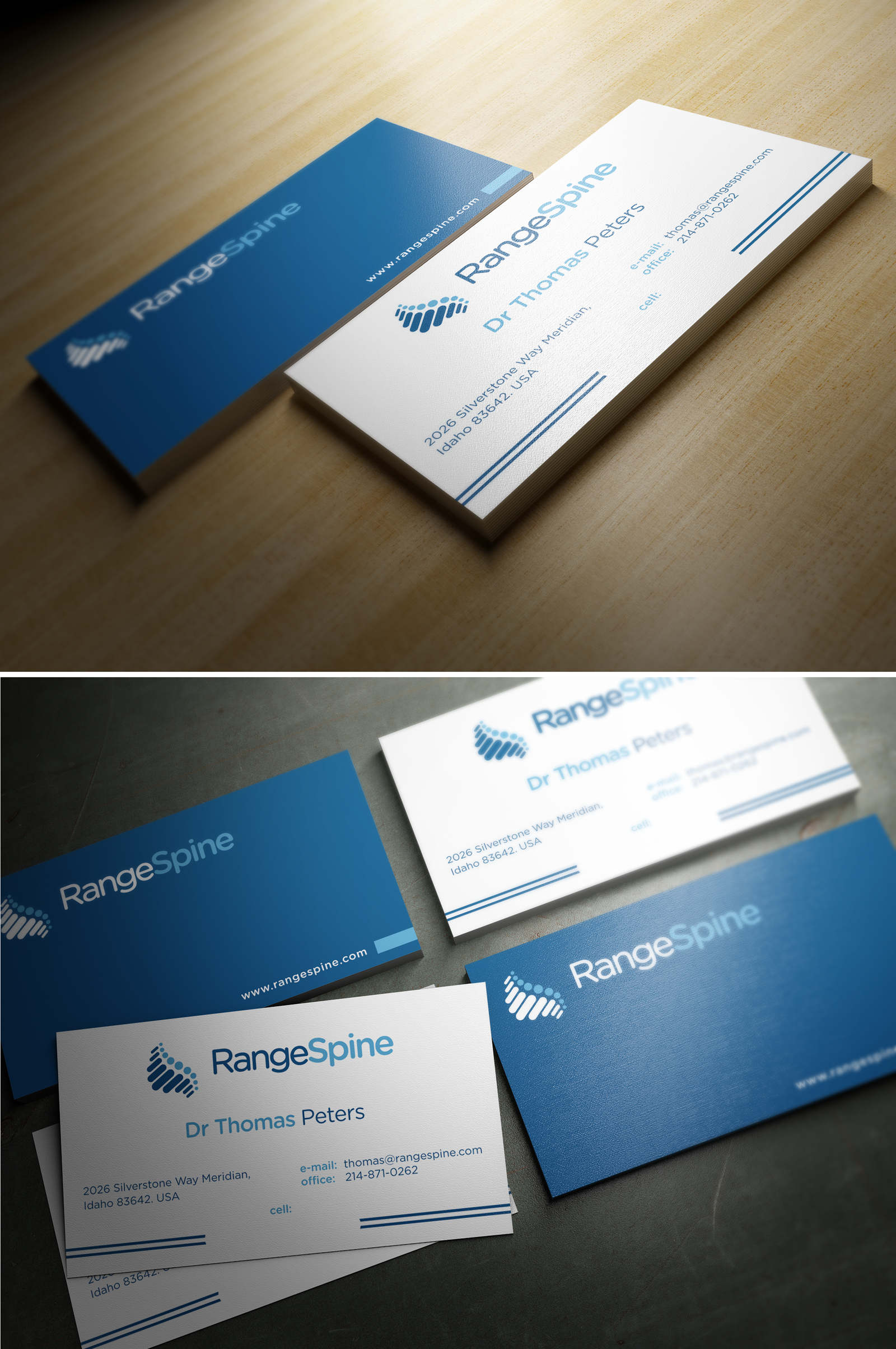 Range Spine needs a new logo and business card
