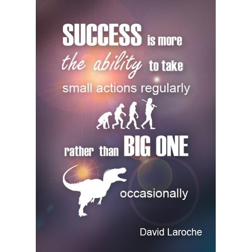 Winning poster design for David Laroche.