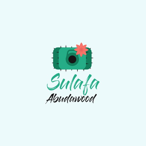 A Cactus logo for a lady freelance photographer and fitness trainer.