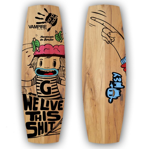 Wakeboard illustration VAMPIRE boards