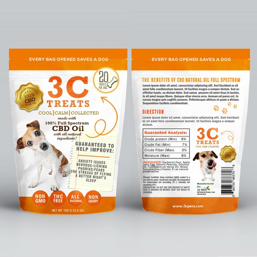 Packaging for dog treats
