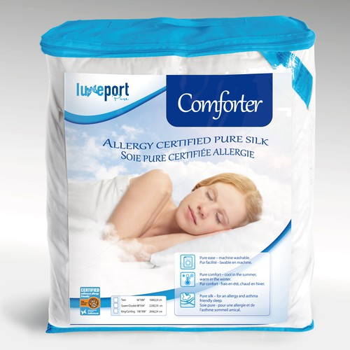 Product Packaging Insert page for new 'allergy and asthma friendly' bedding