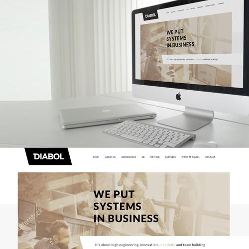 Scandinavian style web design concept