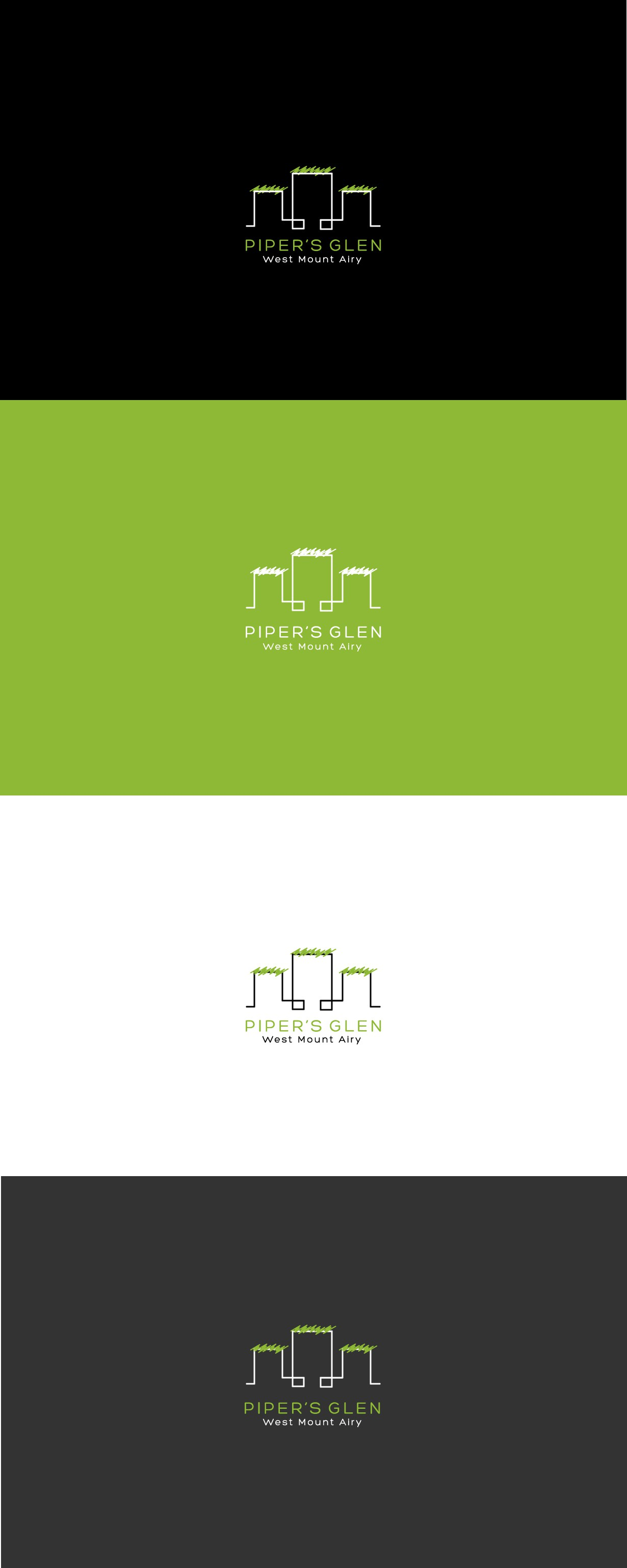 Create a simple visual representation of Green Sustainable Living for Piper's Glen