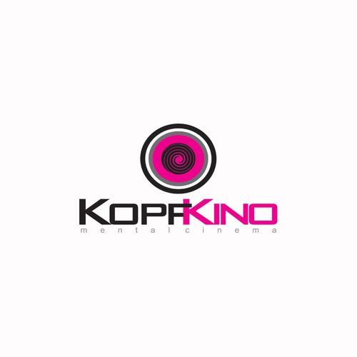Create the next logo for KOPFKINO meaning: inner/mental cinema