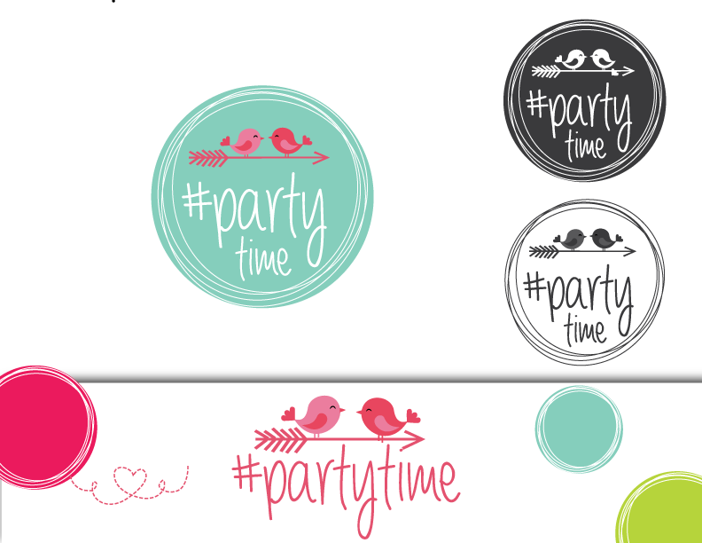 Create a logo for #partytime, a new social media events service!