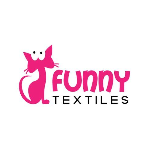 Cheerful logo for textile arts company FunnyTextiles