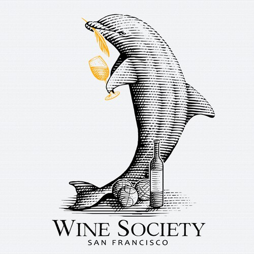 Logo concept for a Wine Society.
