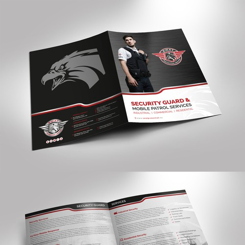 An attractive Presentation Folder for a Security Company!!