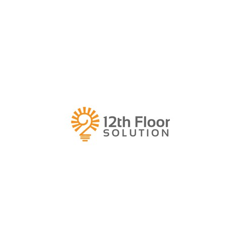 Logo design concept for 12th Floor sloutions