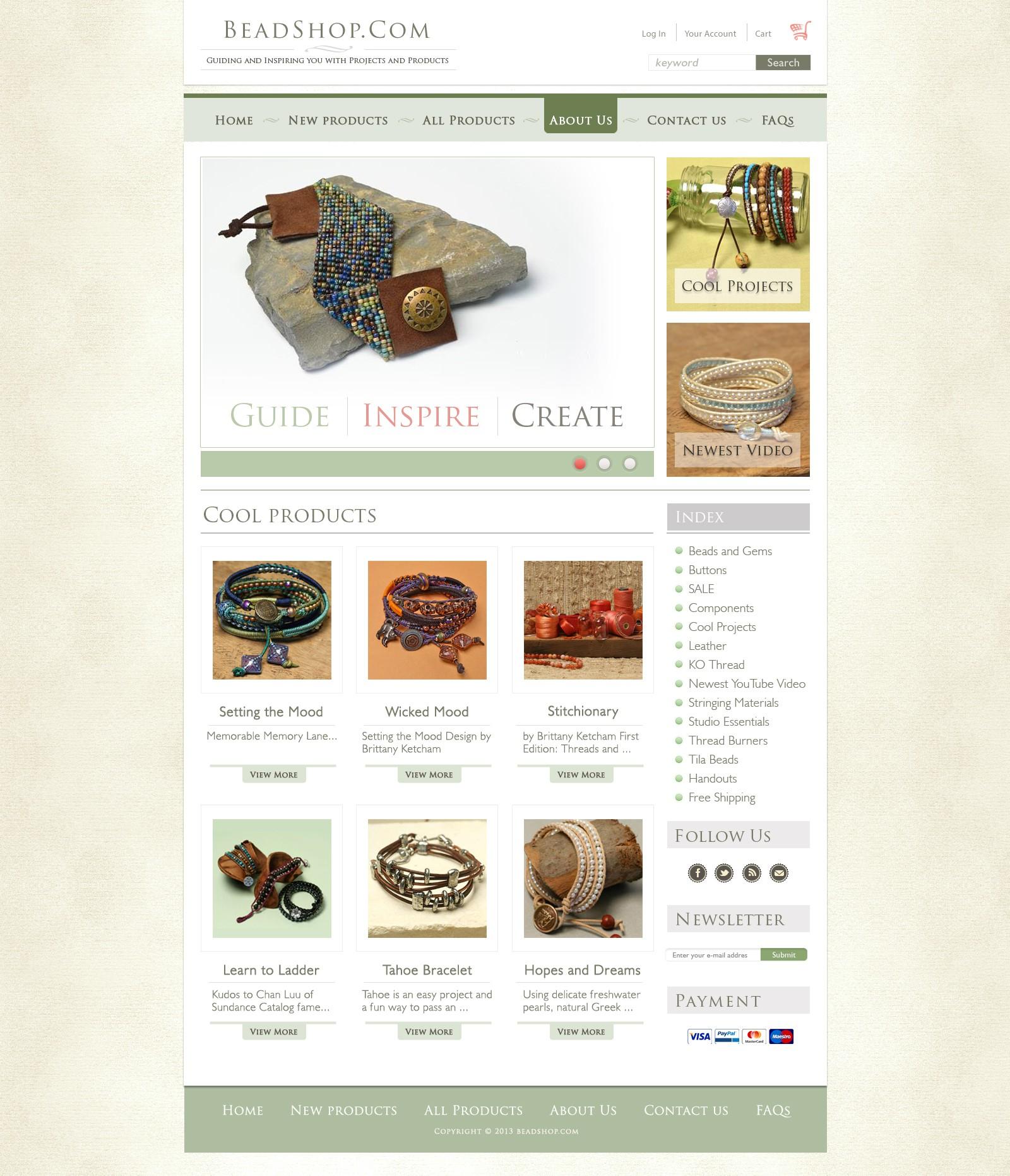 Top DIY beadshop.com needs new look for new platform!