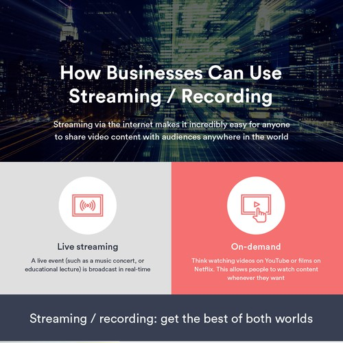 Infographics for Videxio