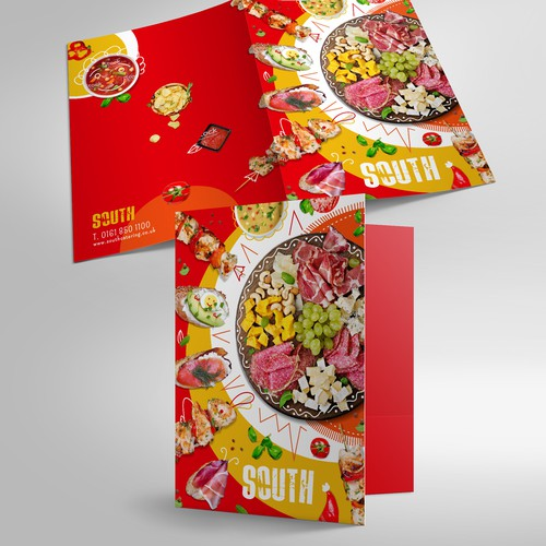 Presentation Folder for Corporate Catering Food Company