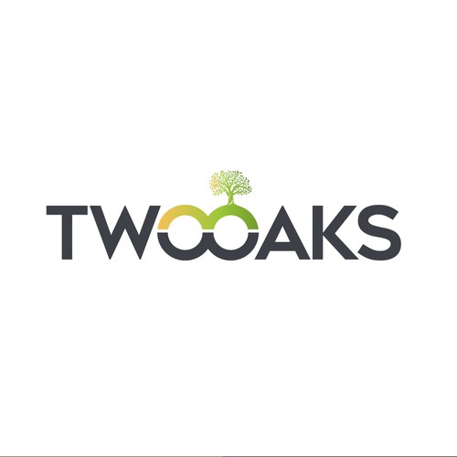 Construction, 3 business owners, use the work TWO oaks in our logo , very bold and intense graphic - Two Oaks