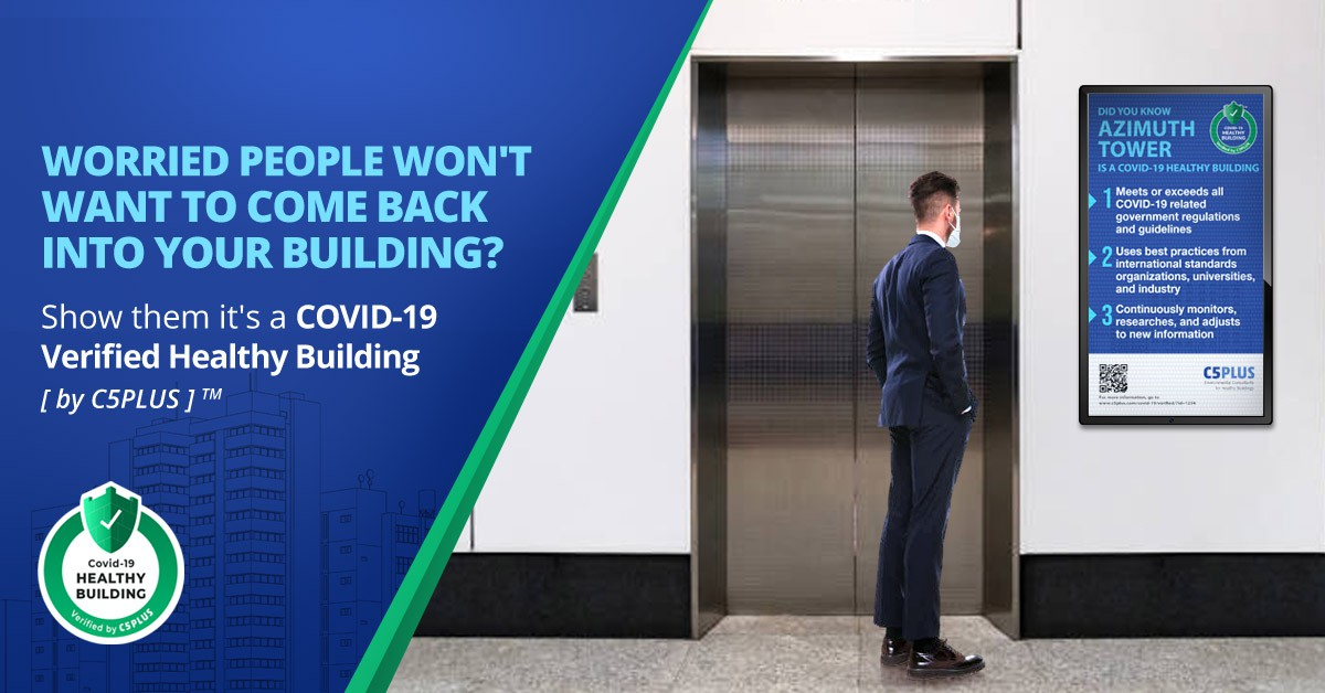 COVID-19 Healthy Building Verification Ads for LinkedIn and Facebook