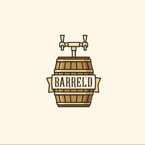 Logo concept for Barrel'd