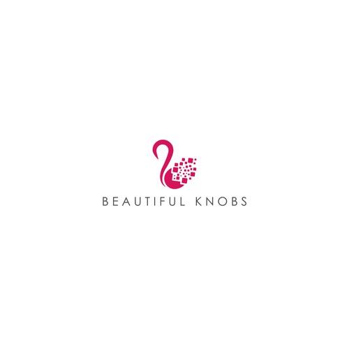 Feminine logo for beautiful knobs