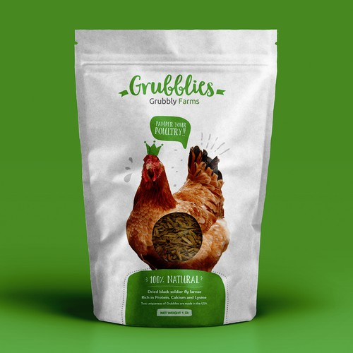 Product packaging for GrubblyFarms