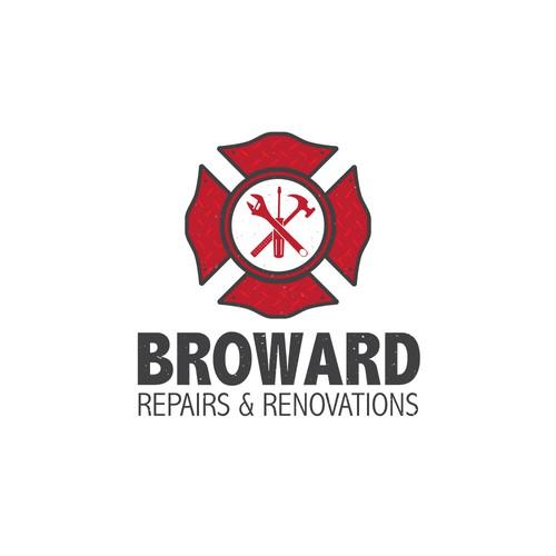 "Logo concept for ""Broward Repairs and Renovations"""