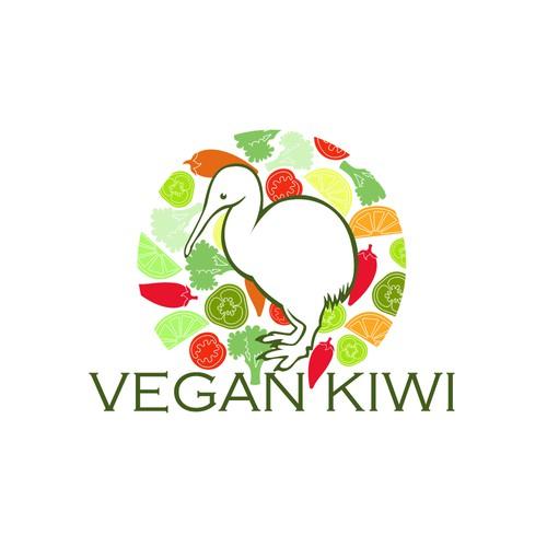 Vegan Kiwi Logo