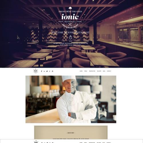 Layoute web restaurant