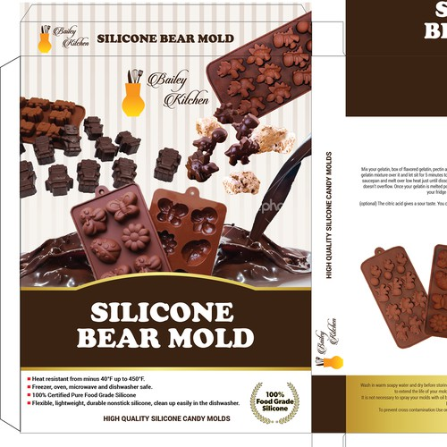 SILICONE BEAR MOLD BOX PACKAGING