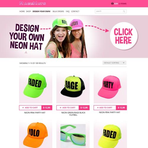 E-commerce hats shop